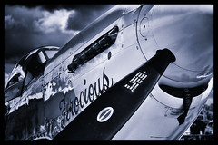North American P-51D Mustang - 11 (mod) (NickJ 1972) Tags: anniversary aviation airshow duxford mustang dday p51 2014 northamerican ferociousfrankie gbtcd 413704 b7h