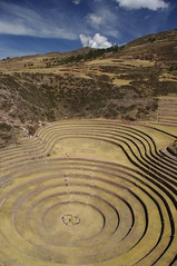 Moray, Peru (ARNAUD_Z_VOYAGE) Tags: wild people white black mountains peru station inca cuzco america landscape site high amazing ancient ruins village northwest pentax plateau south experiment center vegetable system several study human modified species unusual sophisticated circular irrigation moray agricultural consumption maras adapted enormous kx terraced contains domestication depressions archaelogical hybridization acclimatization