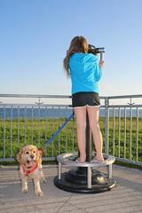I see you! (KathleenYvonne) Tags: family blue girls sky dog lake toronto ontario canada green love nature beauty canon walks cousins walk land lakeontario candian bff 2014
