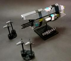 "Azon Destroyer ""Conquest"" (Rphilo004) Tags: ship lego space scifi spaceship homeworld spacecraft moc microspace microscale"