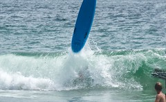 WipeOut (Kevin MG) Tags: ocean ca blue usa beach water losangeles sand surf malibu zuma surfboard wipeout zumabeach juniorlifeguard