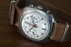Breitling Top Time Chronograph Valjoux 7733 (Nik Chatou) Tags: leather vintage suisse mechanical time top swiss watch omega made automatic strap diver selfwinding seiko chronograph nato montre breitling movado 7733 landeron valjoux chronographe