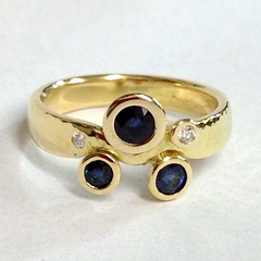 Sapphire and Diamond set in 18ct Gold