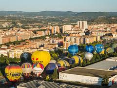 Viaje en globo durante el European Balloon Festiva