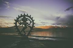 Lasya. (Prabhu B Doss) Tags: sunset lake dance shot dancer divine concept shiva hinduism nataraja leh ladakh freshwater tsomoriri lasya chidambaram natraj tandava hindhu prabhub prabhubdoss nikond7000