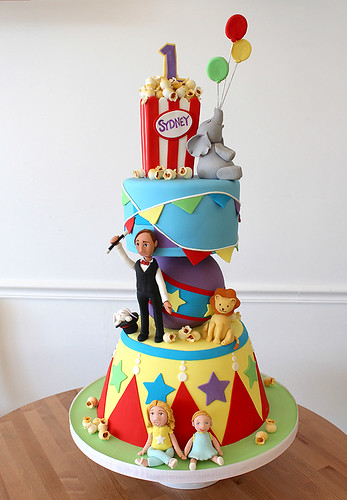 Circus Carnival Sculpted Cake