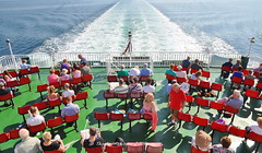 Passengers enjoying the sun on the stern of caledonian isles (Time Out Images) Tags: isles mv caledonian