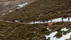 Walk the line (Giannis Samartzis) Tags: greece athens parnitha mountain hiking snow people nikon d3200 1855 nature landscape