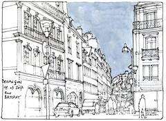 Besançon (gerard michel) Tags: france franchecomté rue sketch croquis architecture