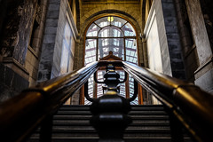Stairs @ Antwerpen Central Station (PaulHoo) Tags: antwerpen central station belgium 2017 fujifilm x70 lines pattern light shadow stairs architecture building interior