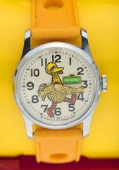 1977 Big Bird watch (Tom Simpson) Tags: sesamestreet watch accessories vintage 1977 1970s bigbird muppet muppets themuppets