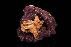 Amethyst & Barite (Cindy's Here) Tags: amethyst barite crystal rock mineral thunderbay ontario canada canon 163365 week13 provincialgemstone 52in2017