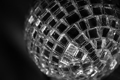43/365 - Mirror ball (Spannarama) Tags: 365 february blackandwhite mirrorball macro closeup mirrors reflections decoration