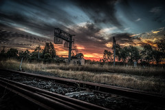 Sunset tracks DSC_0638 (BlueberryAsh) Tags: bobdyalnchallenge railway tracks sunset railwaytracks train traintracks nikond750 nikon24120 outdoors cloudsstormssunsetssunrises
