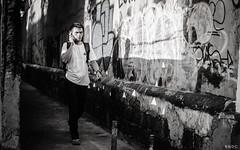Street of Graffiti Tags (BNDC) Tags: street manila graffiti blackandwhite new city line thirds bnw bw light