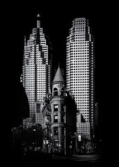 Gooderham Flatiron Building And Toronto Downtown No 2 (thelearningcurvedotca) Tags: briancarson canada canadian gooderham gooderhamflatiron ontario thelearningcurvephotography toronto above abstract architecture background blackandwhite brick buildings city classic concept design downtown environment experimental exterior facade famous flatiron foto glass gothic historic history icon landmark light lines monochrome monument outdoor outdoors pattern perspective photo photograph photography skyline street structures texture towers urban absolutearchitecture bwartaward bwmaniacv2 bej blackwhitephotos blackandwhiteonly blogtophoto bwemotions cans2s discoveryphotos iamcanadian linescurves noiretblanc torontoist true2bw yourphototips