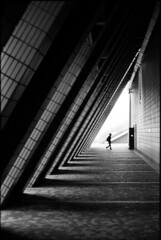 . (glynbrownson) Tags: geometry lines hongkong highcontrast hp5 architecture analogue film blackandwhite bw city streetphotography silhouette monochrome shadow 35mm nikonem