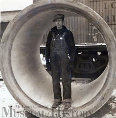 Big 4 Valley Storm Sewer Project Mid-1930s, Bloomington (McLean County Museum of History) Tags: mcleancountymuseumofhistory mcleancounty bloomingtonillinois greatdepression sewer pwa 1930s