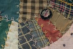 crazy quilt (trs125) Tags: macromondays themefabrics quilt crazy clothtextile craft handmade fabric