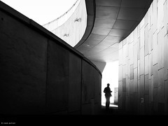 in a labyrinth (René Mollet) Tags: aixenprovonce blackandwhite blackwhite bw labyrinth art silhouette shadow monchrom monochromphotographie man street streetphotography streetart streetphotographiebw renémollet spring springtime urban architecture