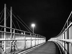 Processed (Richard Croft136) Tags: leeds m621 motorway motor way lights long exposure light trails painting with night dark darkness evening bridge suspension foot road roads cars traffic yorkshire west holbeck hunslet footpath colour colours colourful industrial industry nights late bw black white