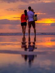 Coming home (jcjocom) Tags: reflection bali people sunset