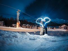 Light painting (enry.v) Tags: gopro light painting lightpainting love girl girlfriend stmoritz sankt moritz ski night photography nightphotography