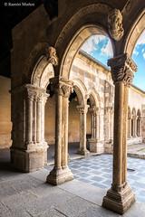 DSC6757 Claustro del Monasterio de Santa María la Real de Nieva, finales del siglo XIV y principios del siglo XV, (Segovia) (Ramón Muñoz - ARTE) Tags: monasterio de santa maría la real nieva claustro claustros