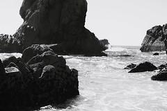 (aclaudine) Tags: digital blackandwhite blackwhite beach rock water ocean nature landscape praia da ursa sintra portugal canon sea