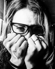 Elle (viceversa62) Tags: portrait blackandwhite monochrome reportage ipod closeup face