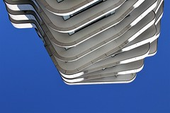 finely sliced (Fotoristin - blick.kontakt) Tags: hamburg architecture abstract lines curves building front slices marcopolotower sky hafencity behnischpartner finelysliced fotoristin