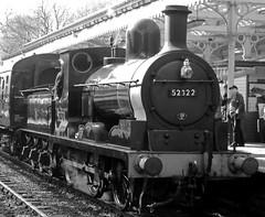 52322 Class 27 Steam Loco 0-6-0 - Mono (wontolla1 (Septuagenarian)) Tags: elr east lancashire lancs railway steam station loco lumix lens locomotive platform bury bolton street smoke driver fireman