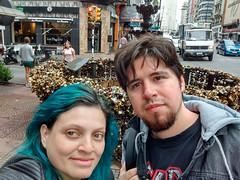 la fuente de los candados (Daniela Snow) Tags: uruguay holidays travel vacaciones summer greenhair cloudy fountain padlocks