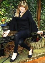 What Now? (Amber :-)) Tags: black leggings tgirl transvestite crossdressing
