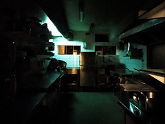 The kitchen of Café de Prins after operating hours (lijn) Tags: amsterdambynight night thenetherlands deprins oneplus3 amsterdam cafedeprins noordholland netherlands nl followthelight stadinbeeld