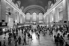 Grand Central Terminal 3 (Jakub Slovacek) Tags: gct grandcentralterminal manhattan nyc newyork newyorkcity people usa unitedstates architecture blackandwhite building bw city indoor landmark midtown station terminal train travel urban us