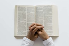 Bible_Reading_White_Background_01 (Julliard Kenneth) Tags: stockphotos stockphotography bible white praying