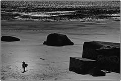 OK je rentre ! (Patevy Damant) Tags: atlantique atmosphère bw extérieur jour médoc monochrome nikon noiretblanc océan paysage plage silhouette sable