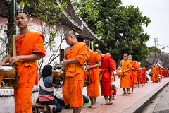 Young monks. Laos (ravalli1) Tags: laos luangprabang asia religion buddhism monks dawn offers tradition travel 2017 vacations nikon7100