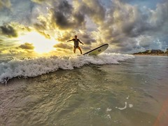 Surfing (Alexandr Tikki) Tags: bali surfing surf waves sunset sea indonesia travel tikki man leveltravel wow amazing art color colorful cloud