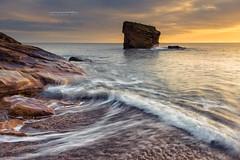 Charlie's Light (Squareburn) Tags: sunrise collywellbay charliesgarden seatonsluice coast seascape seastack