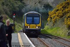 29013 arrives at Wicklow, 15/4/17 (hurricanemk1c) Tags: railways railway train trains irish rail irishrail iarnród éireann iarnródéireann 2017 class29000 caf commuter wicklow 1240rosslareeuroportconnolly