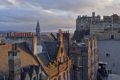 Edinburgh Castle [104/365 2017] (steven.kemp) Tags: edinburgh castle scotland camera obscura historic golden hour sky cloud city
