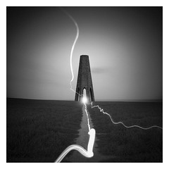 Accumulator (picturedevon.co.uk) Tags: daymark dartmouth kingswear southhams devon england uk bw bnw blackandwhite minimal night grey fineart light le longexposure stone tower sea landscape sky mono outdoors path abstract lightpainting canon wwwpicturedevoncouk photography