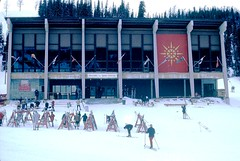 Sunshine Village Ski Chalet in 1970, Banff, Alberta (Joseph Hollick) Tags: 35mmfilm 35mm alberta banffnationalpark banff ski snow sunshinevillage