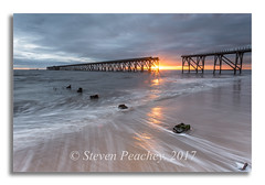 Sunrise (Steven Peachey) Tags: seascape sunrise sea sky clouds beach canon canon6d ef1740mmf4l manfrotto leefilters lee09gnd steetleypier hartlepool uk northeastengland northeast northeastcoast coast coastline stevenpeachey lightroom pier explore explored