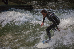 Surfing on the Eisbach (DJNstudios) Tags: munich marienplatz hofbrau beer bier germany deutschland deutsch reisling bavaria hofgarten surfing foliage fall europe october oktoberfest