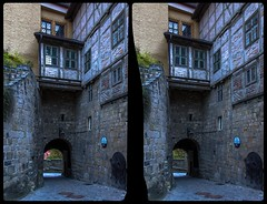 Castle of Quedlinburg 3-D / CrossView / Stereoscopy / HDR / Raw (Stereotron) Tags: sachsenanhalt saxonyanhalt ostfalen harz mountains gebirge ostfalia hardt hart hercynia harzgau quedlinburg castle burg dom quietearth architecture europe germany crosseye crosseyed crossview xview cross eye pair freeview sidebyside sbs kreuzblick 3d 3dphoto 3dstereo 3rddimension spatial stereo stereo3d stereophoto stereophotography stereoscopic stereoscopy stereotron threedimensional stereoview stereophotomaker stereophotograph 3dpicture 3dglasses 3dimage hyperstereo canon eos 550d chacha singlelens kitlens 1855mm tonemapping hdr hdri raw