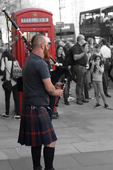 IMG_3877 (antmany2k) Tags: bagpipes streetphotography london kilt phonebox urban