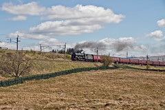LMS Royal Scot Class 7P 4-6-0 No 46115 Scots Guardsman in charge of The Winter Cumbrian Mountain Express climbing Shap at Scout Green on the WCML (penlea1954) Tags: lms royal scot class 7p 460 no 46115 scots guardsman the winter cumbrian mountain express wcml west coast mail line shap scout green carlisle uk steam railways engine railway